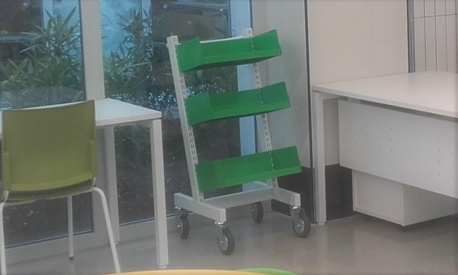 Neruda cart on one side