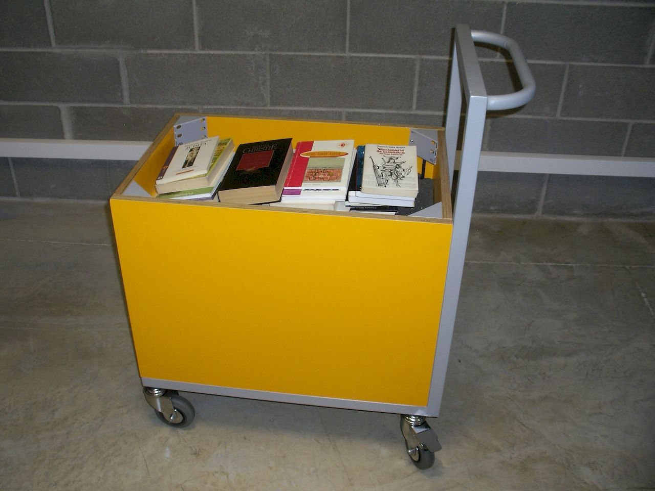 Book loans display cart