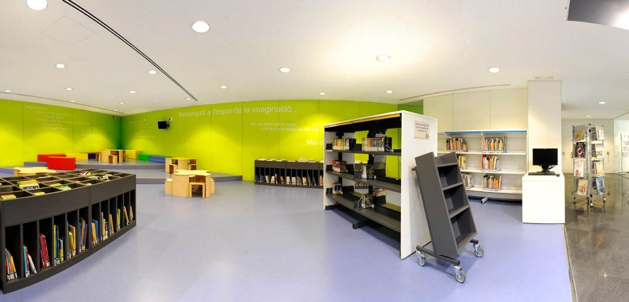 Biblioteca municipal 'Can Baró', Corbera de Llobregat (Barcelona)