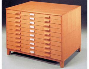 Mueble archivador de mapas