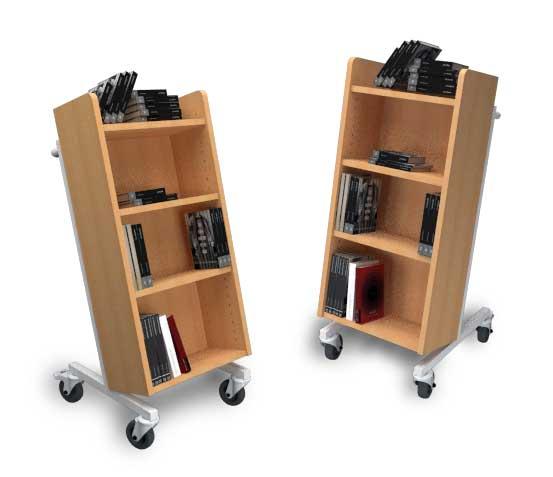 Carro porta-libros de madera