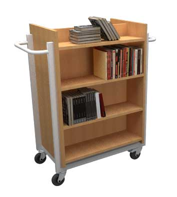 Dubbelzijdige boekenwagen