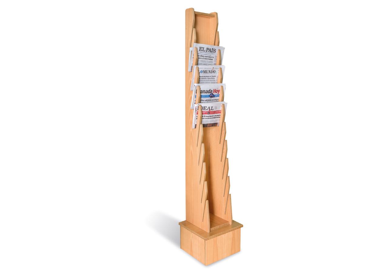 Présentoir vertical à journaux