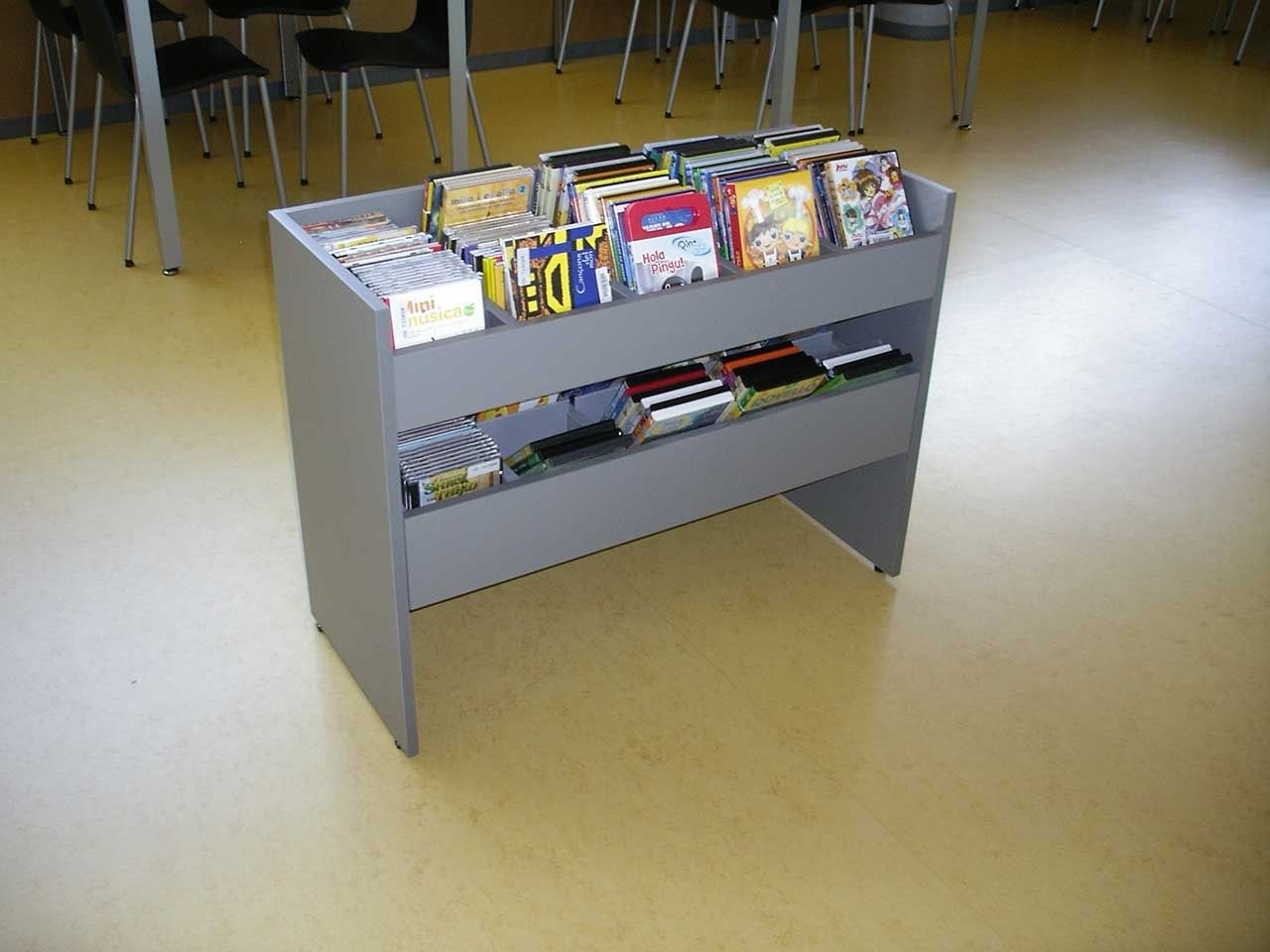 Audiovisual media storage container. Optional with or without a drawer.