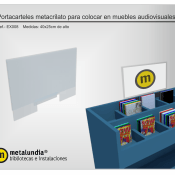 Portacarteles metacrilato para muebles audiovisuales