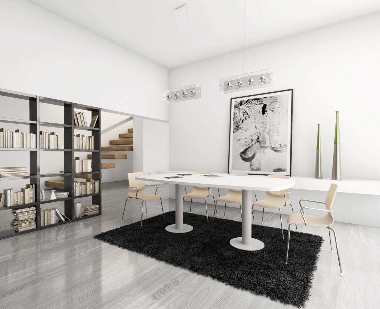 Mesas con base de peana