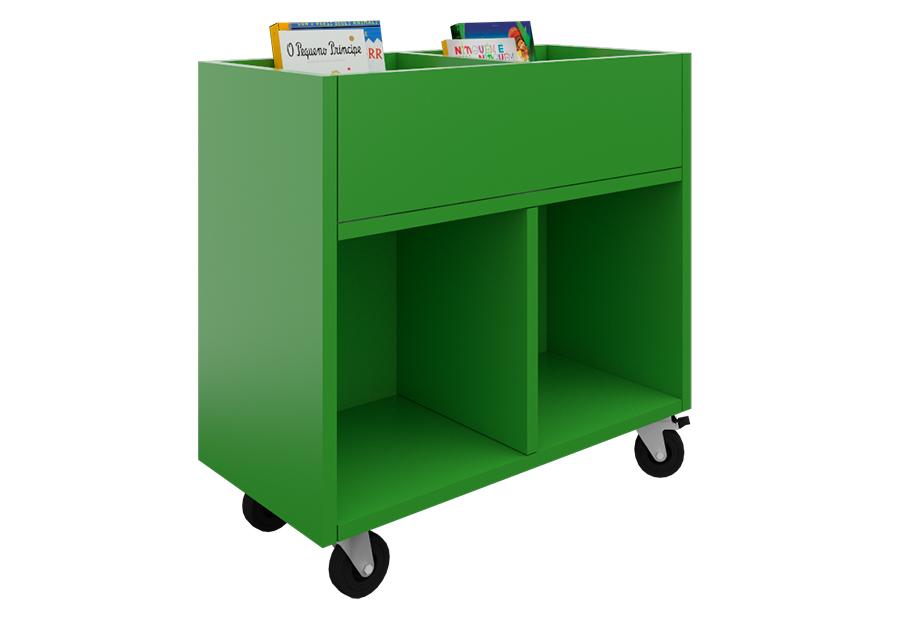 Expositor de cuentos con 2 compartimentos