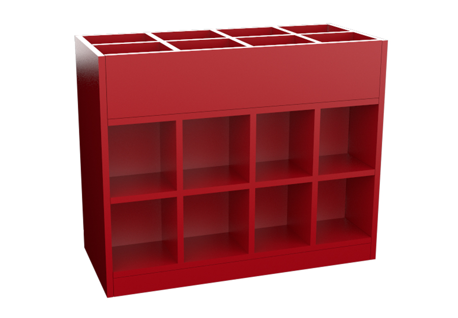 Double sided storage container