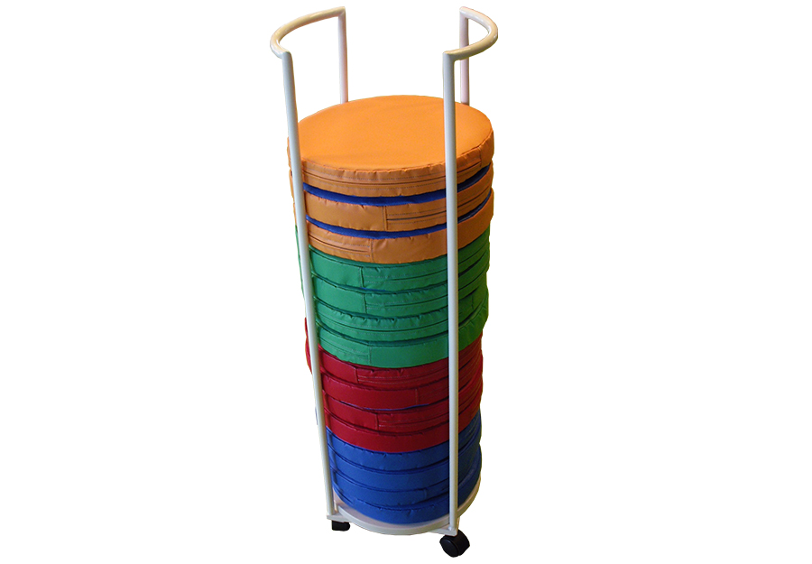 Vertical cart for cushions