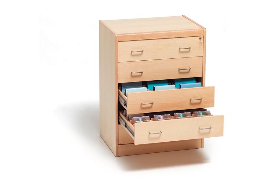 Meuble de rangement pour CD/DVD 5 tiroirs