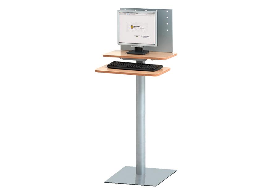 Puesto informático de pie OPAC