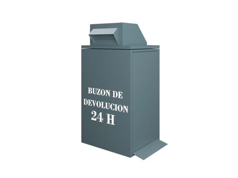 Small metal return mailbox
