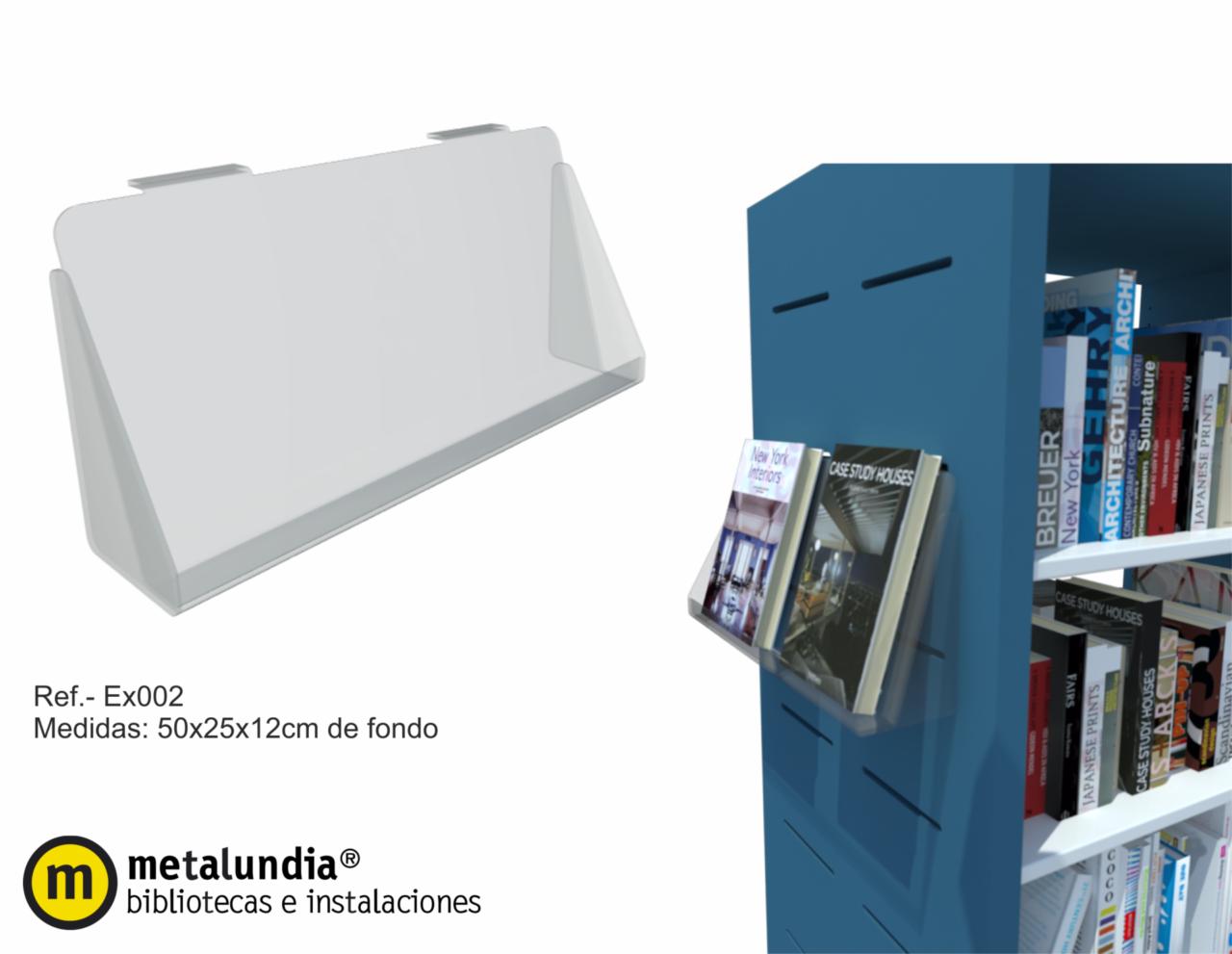 Expositor libros para lateral