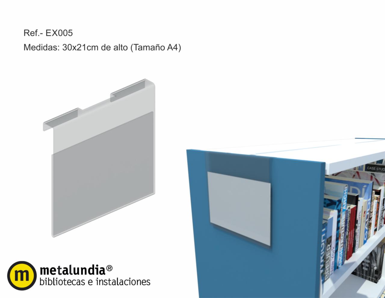 Portacarteles para lateral estanteria Neruda
