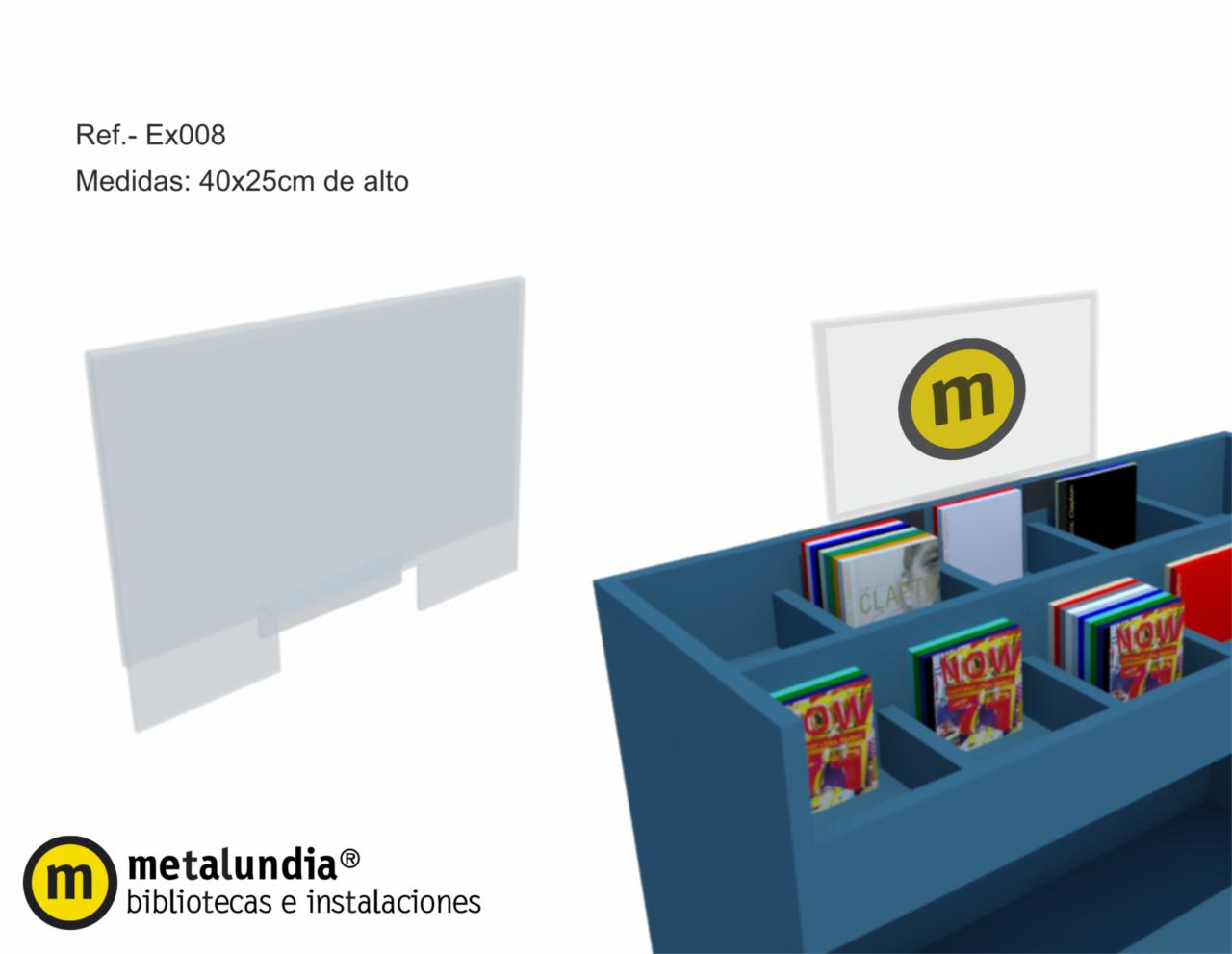 Portacarteles para muebles audiovisuales